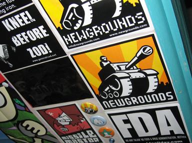 NG Logo Stickers