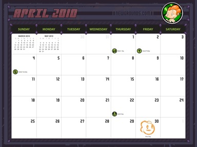 2010 NG Calendar
