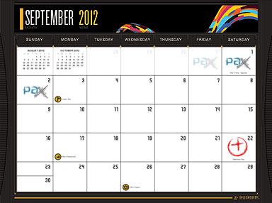 2012 NG Calendar