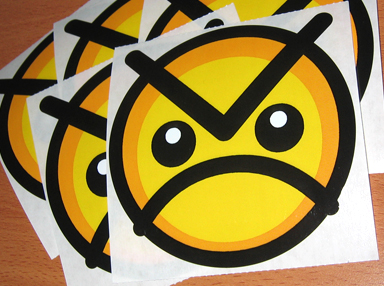Angry Faic Stickers