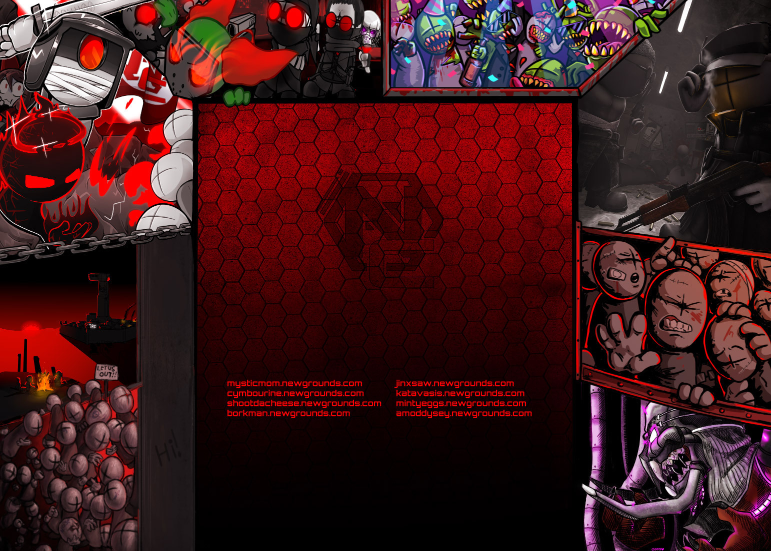 Newgrounds Background Image Theme